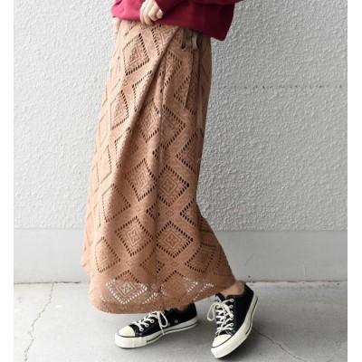 【シップス/SHIPS】 Khaju:レースラップスカート