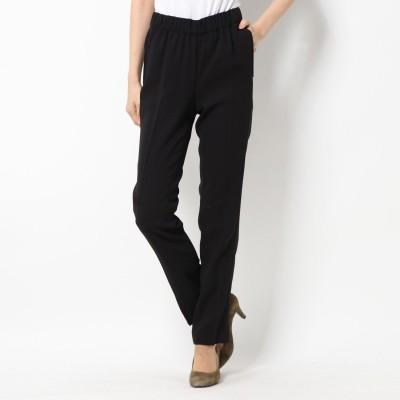 リネーム Rename ウエストゴム 裾サイドジッパーパンツ (ブラック)