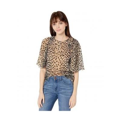 Rebecca Taylor レベッカテーラー レディース 女性用 ファッション ブラウス Short Sleeve Pebble Leopard Blouse - Golden Combo
