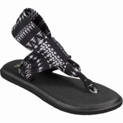 サヌーク サンダル・ミュール Yoga Sling 2 Sandals BLACK/NATURAL KOA TRIBAL