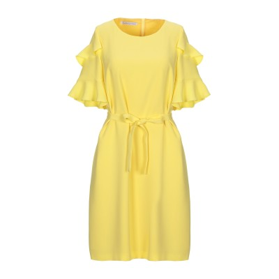 CARACTÈRE ミニワンピース&ドレス イエロー 40 ポリエステル 100% ミニワンピース&ドレス