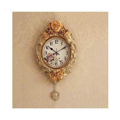 ZHFHA Silent Wall Clock, Living Room Bedroom Wall Clock Children's Room Clock No Tick Retro Wall Hanging Decorative Clock 20 Inches White【
