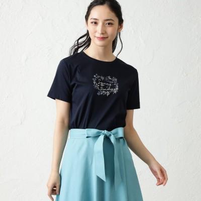 アマカ AMACA ◆◆NOZOMI YUASAコラボロゴ半袖Tシャツ (ブラックネイビー)
