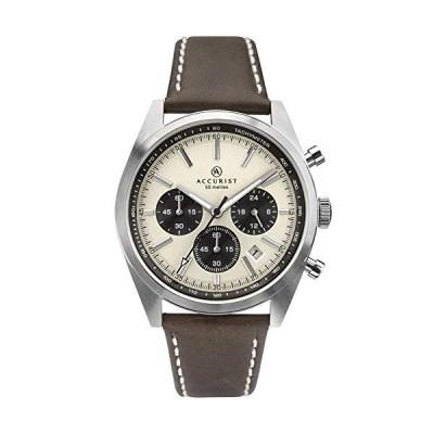 Accurist Mens Chronograph Quartz Watch with Leather Strap 7275 並行輸入品