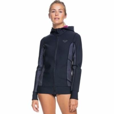 ロキシー Roxy レディース ウェットスーツ フード ジャケット 水着・ビーチウェア Syncro 1.0 Flatlock Neoprene Hooded Paddle Jacket B