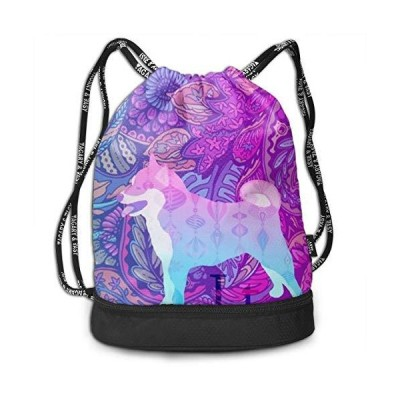 Drawstring Backpack With Vaporwave Aesthetic Print, String Bag Foldable Sac