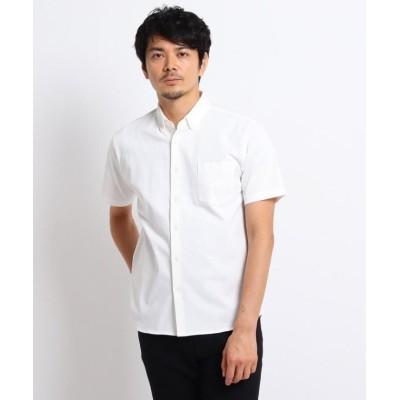 【タケオキクチ】 度詰め鹿の子 カットソーシャツ メンズ ホワイト 02(M) TAKEO KIKUCHI
