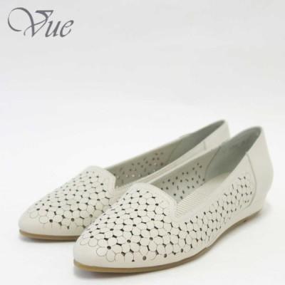 Vue ビュー EIZO Collection 11554 アイボリー上質レザーのスリッポンシューズ「靴」