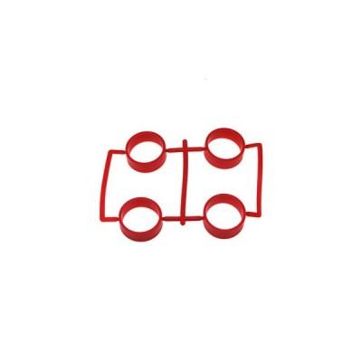 【ネコポス対応】イーグル(EAGLE)/MINI4-RT01-RE/SP大径レーシングタイヤ内径23.5mm1.7mm厚:ミニ4(レッド)