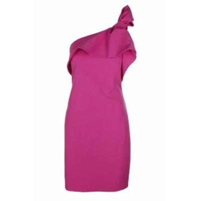 Vince ヴィンス ファッション ドレス Vince Camuto Fuchsia One Shoulder Ruffle Sheath Dress 14