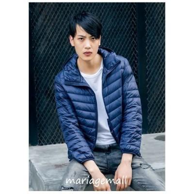 ジャケット男性ジャケットコートアウター冬服薄手収納袋付き便利室内着大きいサイズアウトドアシンプル