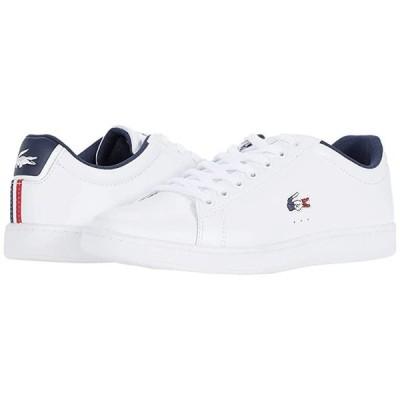 ラコステ Carnaby Evo TRI 1 メンズ スニーカー 靴 シューズ White/Navy/Red