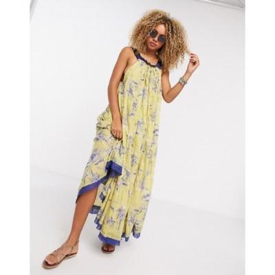 フリーピープル レディース ワンピース トップス Free People Tropical Toil maxi dress in yellow