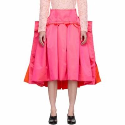 コム デ ギャルソン Comme des Garcons レディース ひざ丈スカート スカート pink thin satin structured skirt Pink