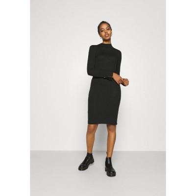 ヴェロモーダ ワンピース レディース トップス VMVILJA DRESS - Shift dress - black