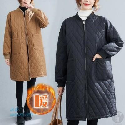 コート 中綿ジャケット キルティング レディース 冬 秋冬新作 30代 40代 ミディアム丈 大人 ポケットあり アウター