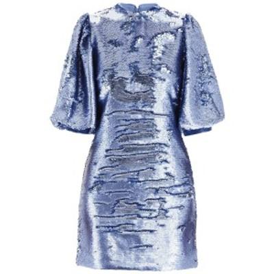 GANNI/ガニー ドレス BLUE Ganni sequins mini dress レディース F3556 ik