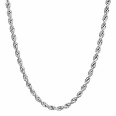 """NYC Sterling Unisex Sterling Silver 5MM Diamond-Cut Rope Chain Necklace (20"""")"""
