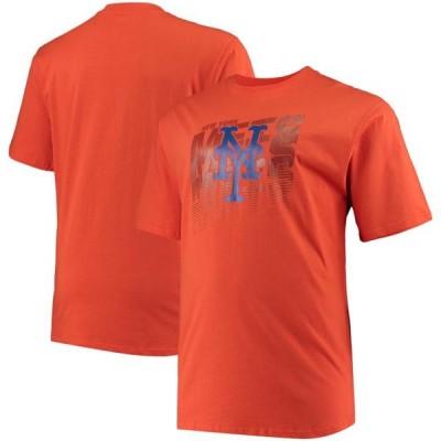 ユニセックス スポーツリーグ メジャーリーグ New York Mets Big & Tall Open Opportunity Alternate T-Shirt - Orange Tシャツ