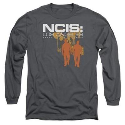 ユニセックス 衣類 トップス Trevco Ncis-La-Slow Walk - Long Sleeve Adult 18-1 Tee - Charcoal, Small グラフィックティー