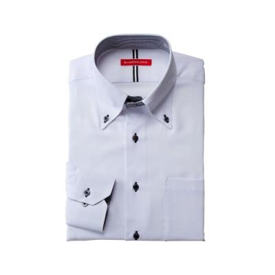 形態安定長袖ワイシャツ(ドゥエボタンダウン)(標準シルエット) (ワイシャツ)Shirts,