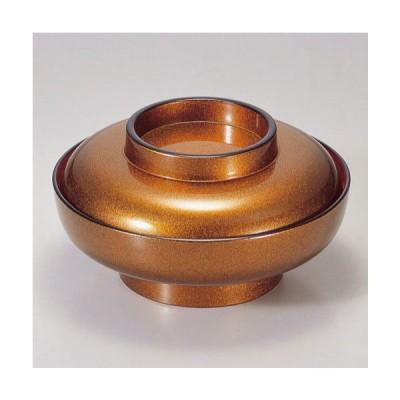 (業務用・蓋向・煮物碗)6寸大平煮物椀 金梨地内朱 580cc(入数:5)