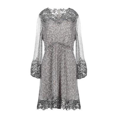 ELIE TAHARI ミニワンピース&ドレス グレー M ポリエステル 100% ミニワンピース&ドレス