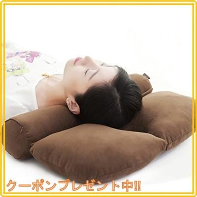 仰向け.横向き寝 安眠枕 円柱 頚椎ヘルニア 枕 ストレートネック矯正枕 頭痛改善 首用クッション 蕎麦殻 仰向