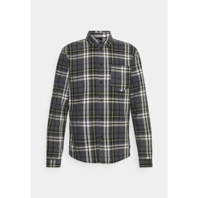メンズ ファッション ALMAR - Shirt - stone grey/offwhite/mosstone