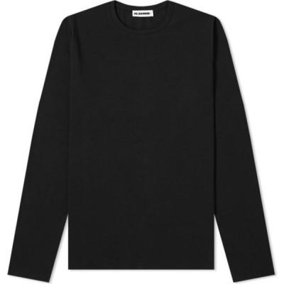 ジル サンダー Jil Sander メンズ 長袖Tシャツ トップス Plus Long Sleeve Regular Fit Tee Black