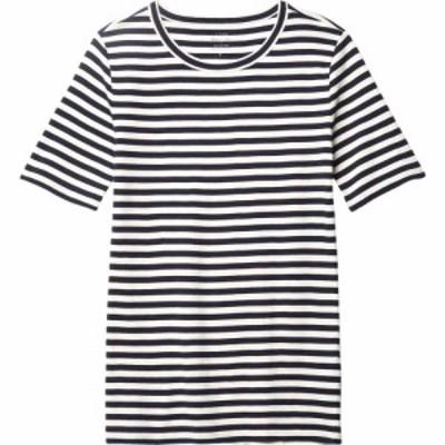 ジェイクルー J.Crew レディース Tシャツ トップス Slim Perfect T-Shirt in Stripe Navy/Ivory