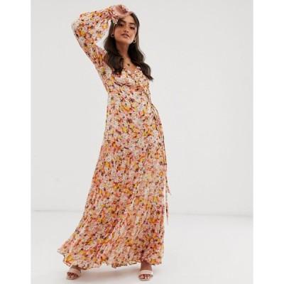 ゴースト レディース ワンピース トップス Ghost jasmine georgette floral wrap maxi dress