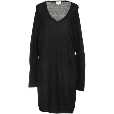 CA' VAGAN ミニワンピース&ドレス ブラック S ウール 70% / カシミヤ 30% ミニワンピース&ドレス