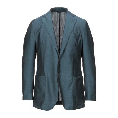 TOMBOLINI テーラードジャケット ディープジェード 50 バージンウール 48% / モヘヤ 37% / シルク 15% テーラードジャケット