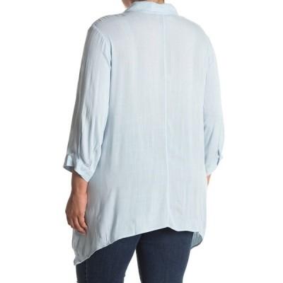 ジョアンバス レディース シャツ トップス 3/4 Length Button Down Shirt BLUE BREEZE