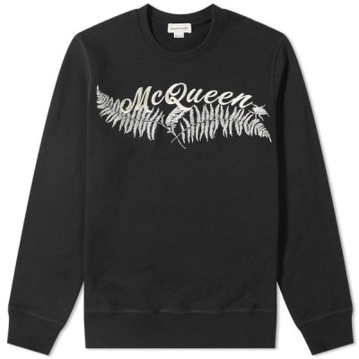 アレキサンダー マックイーン Alexander McQueen メンズ スウェット・トレーナー トップス Fern Logo Embroided Sweat Black/Mix
