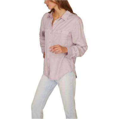 レディース 衣類 トップス Sanctuary Clothing Womens Steady Boyfriend Button Up Shirt Purple Large ブラウス&シャツ