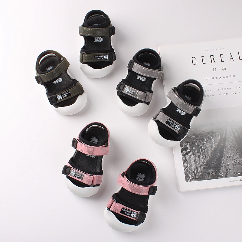 夏季新款兒童涼鞋包頭學步涼鞋軟底小男女童沙灘涼鞋