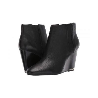 Kenneth Cole New York ケネスコールニューヨーク レディース 女性用 シューズ 靴 ブーツ アンクル ショートブーツ Merrick Wedge Bootie - Black Leather