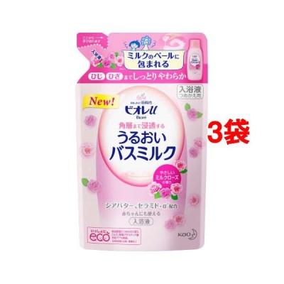 ビオレu角層まで浸透バスミルクミルクローズの香りつめかえ用 ( 480ml*3袋セット )/ ビオレU(ビオレユー)