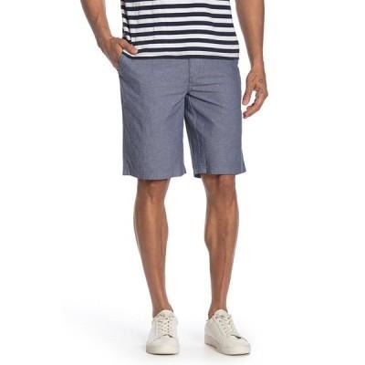 ウォーリンアンドブロス メンズ カジュアルパンツ ボトムス Flat Front Chambray Shorts NAVY DRESS