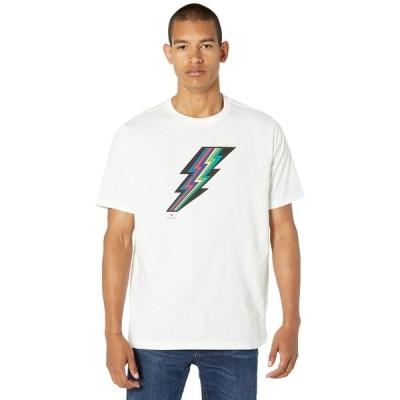ポールスミス シャツ トップス メンズ Ligtning Regular Fit T-Shirt White