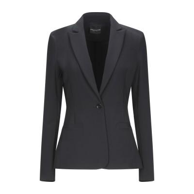 アトス ロンバルディーニ ATOS LOMBARDINI テーラードジャケット ブラック 42 ポリエステル 88% / ポリウレタン 12% テー