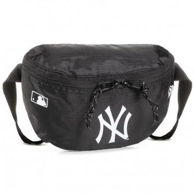 New Era ニューエラ MLB MINI WAIST BAG 12386724 ニューヨークヤンキース ミニウエストバッグ ウエストポーチ ボディバッグ 小さめ ブラック 黒 ロゴ プリン