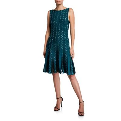 ザックポーゼン レディース ワンピース トップス Embroidered Jersey Cocktail Dress