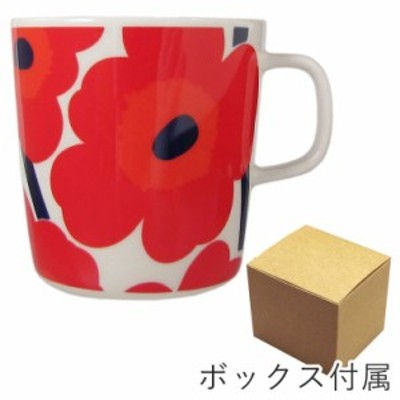 マリメッコ マグカップ コップ 400ml 食器 UNIKKO ウニッコ ホワイト×レッド 067719 001 名入れ可有料 プレゼント 実用的 ギフト alevel
