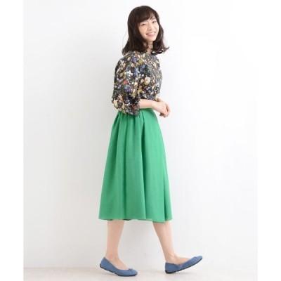 NIMES / ニーム ボイル×サテン リバーシブルスカート