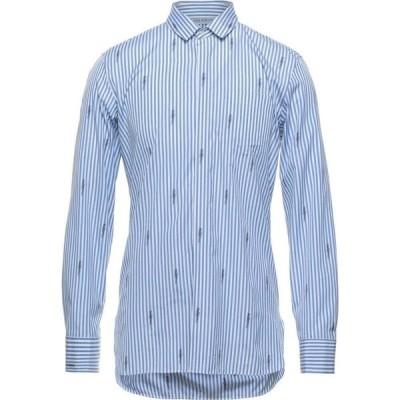 ニール バレット NEIL BARRETT メンズ シャツ トップス Striped Shirt Azure