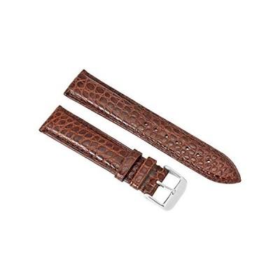 Brooklyn Watch Strap in Brown Alligator Leather - 22 MM 並行輸入品