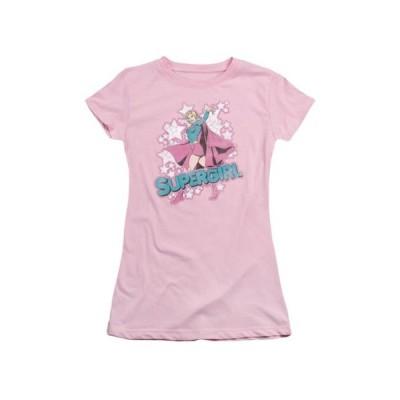 キッズ 衣類 トップス DC Comics I'm Supergirl Juniors Sheer T-Shirt Tee グラフィックティー